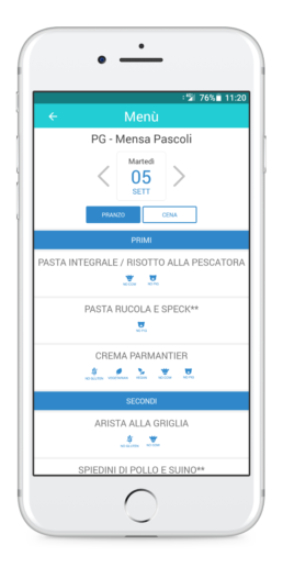 3 - Menu mensa BuonApp ADISU by Weedea